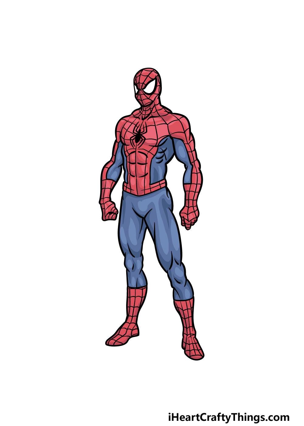 drawing Spiderman step 6
