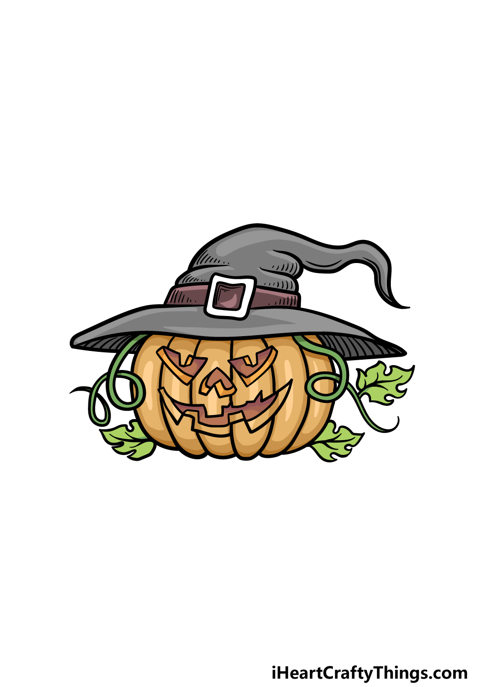 drawing Halloween step 6