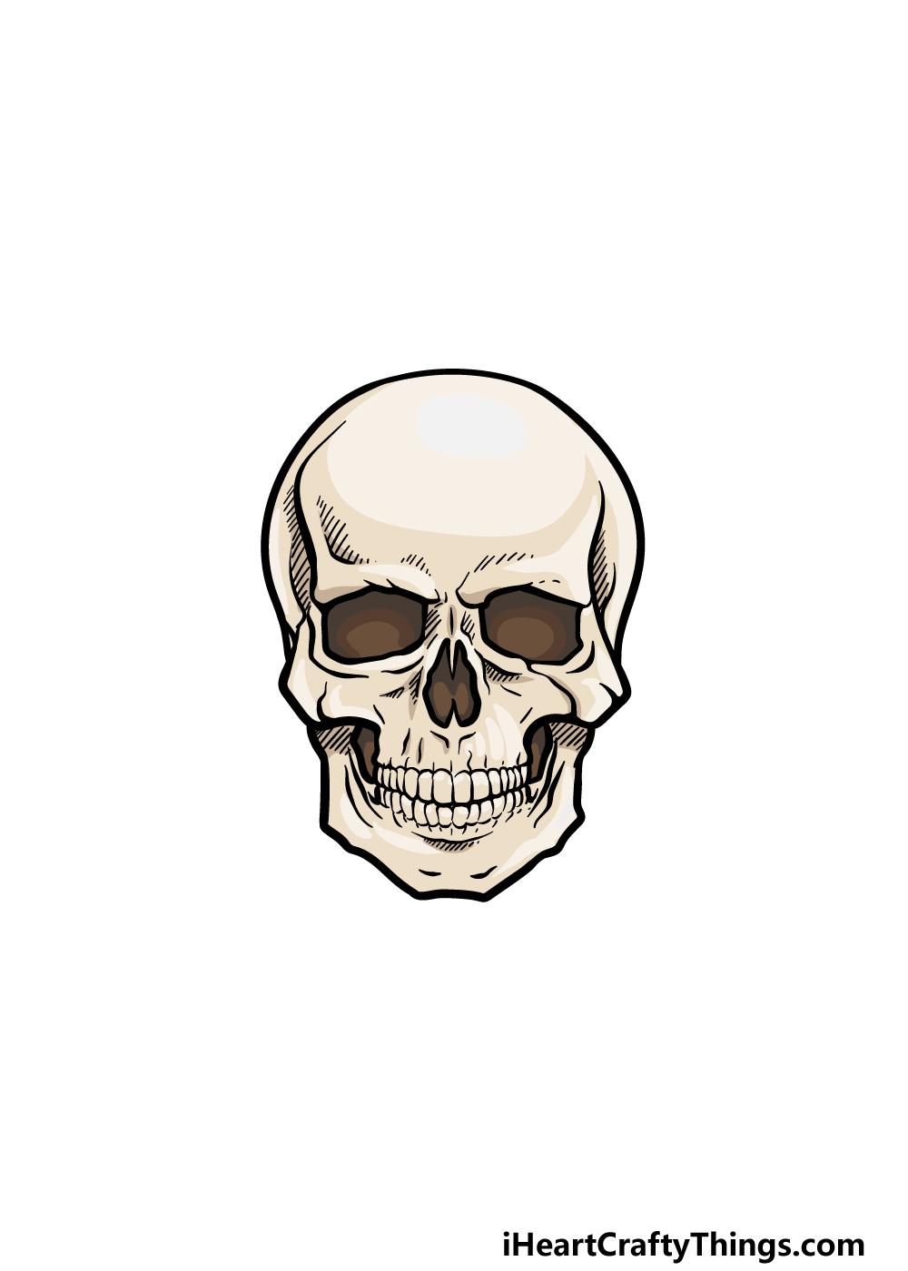 drawing a skeleton head step 6