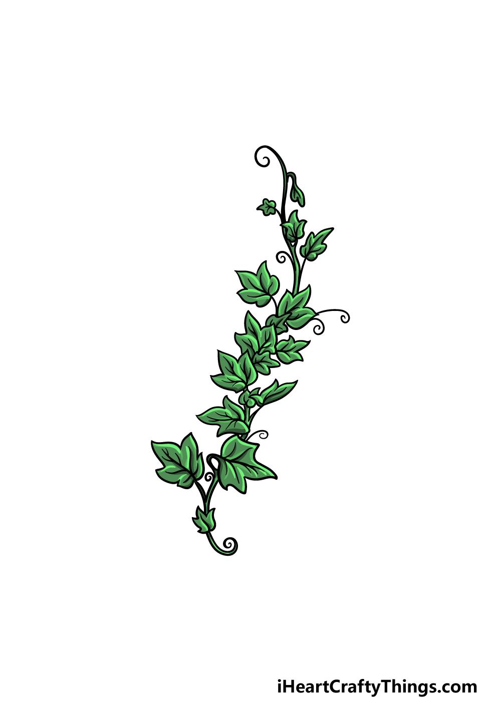 drawing vines step 6
