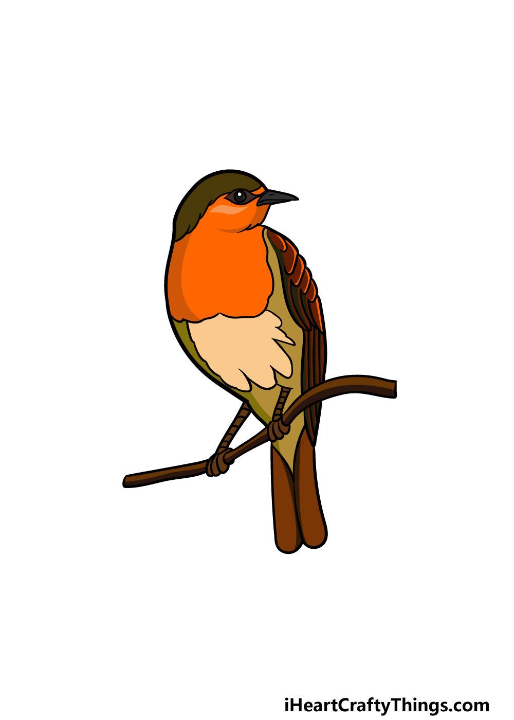 drawing a robin step 6