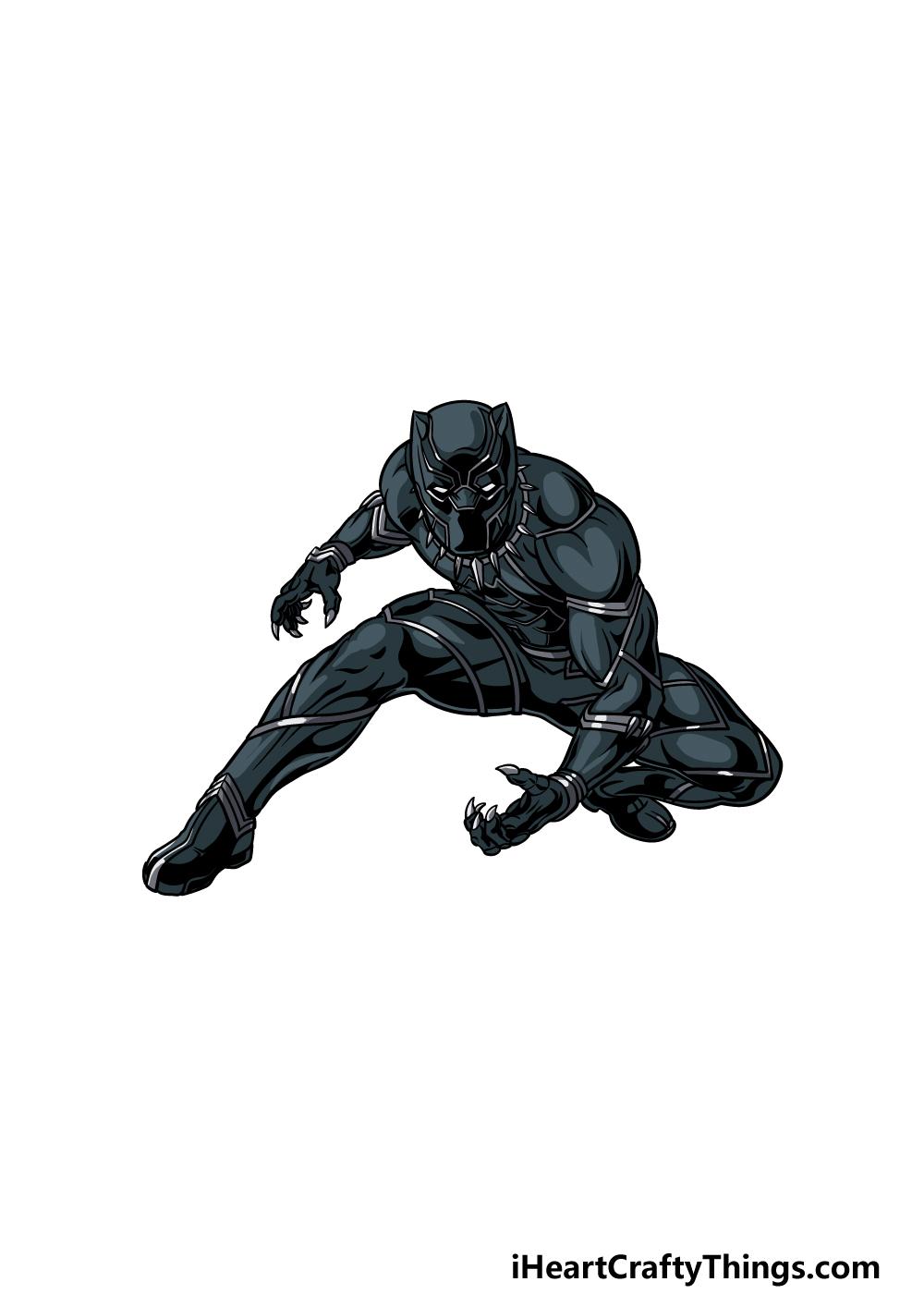 drawing Black Panther step 6