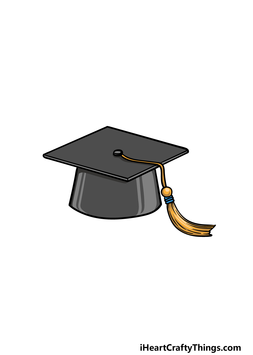 drawing Graduation Hat step 6