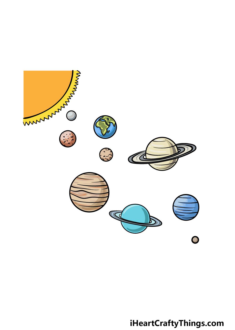 drawing solar system step 6