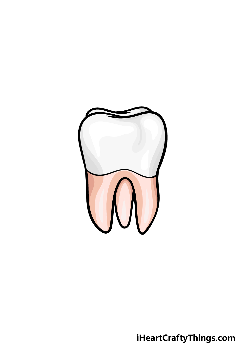 drawing a tooth step 6