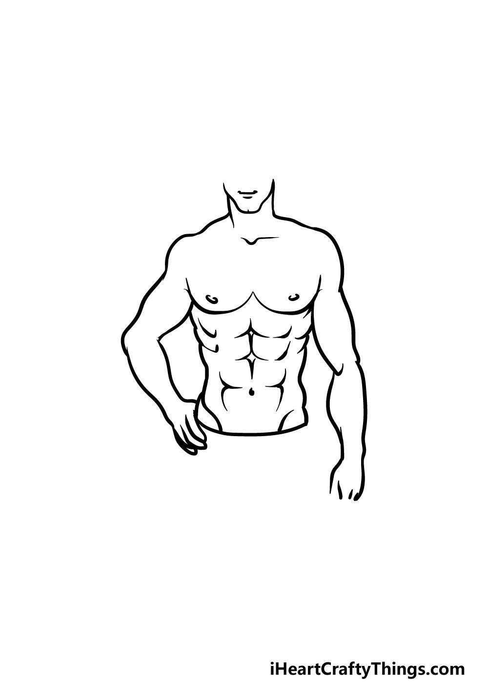 drawing torso step 6
