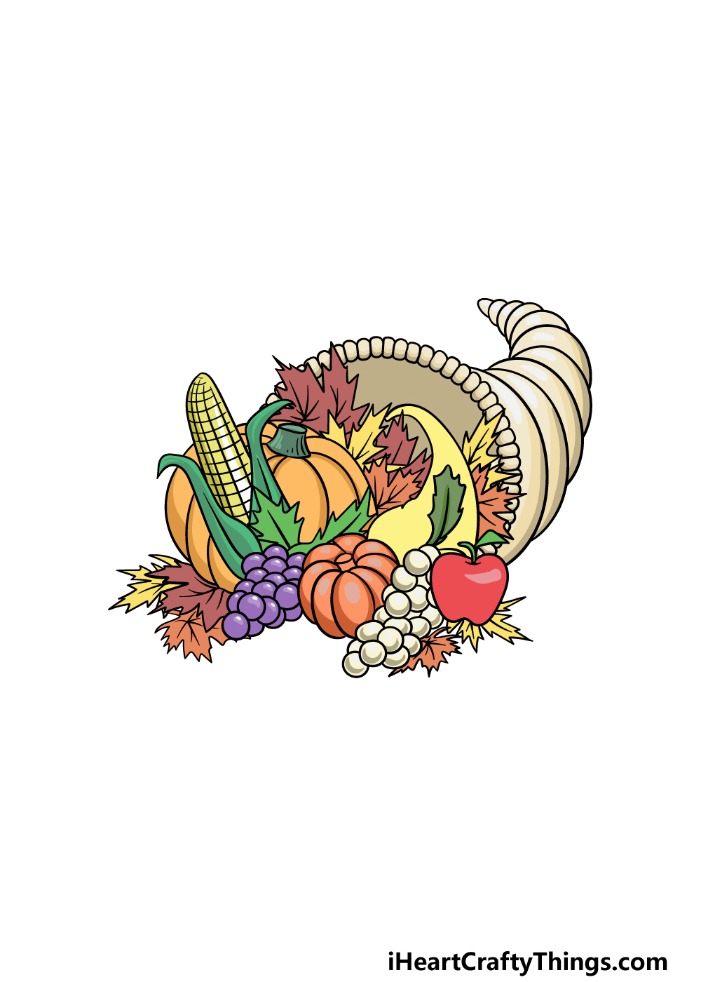 drawing Thanksgiving step 6