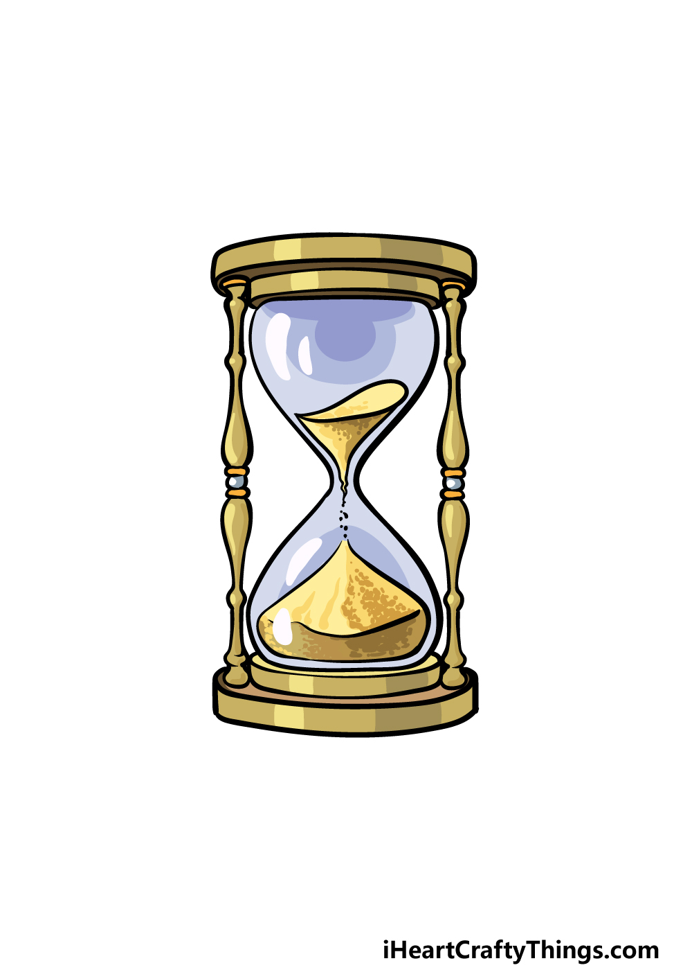 drawing an hourglass step 6