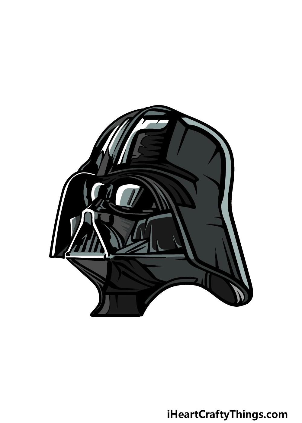 drawing Darth Vader step 6