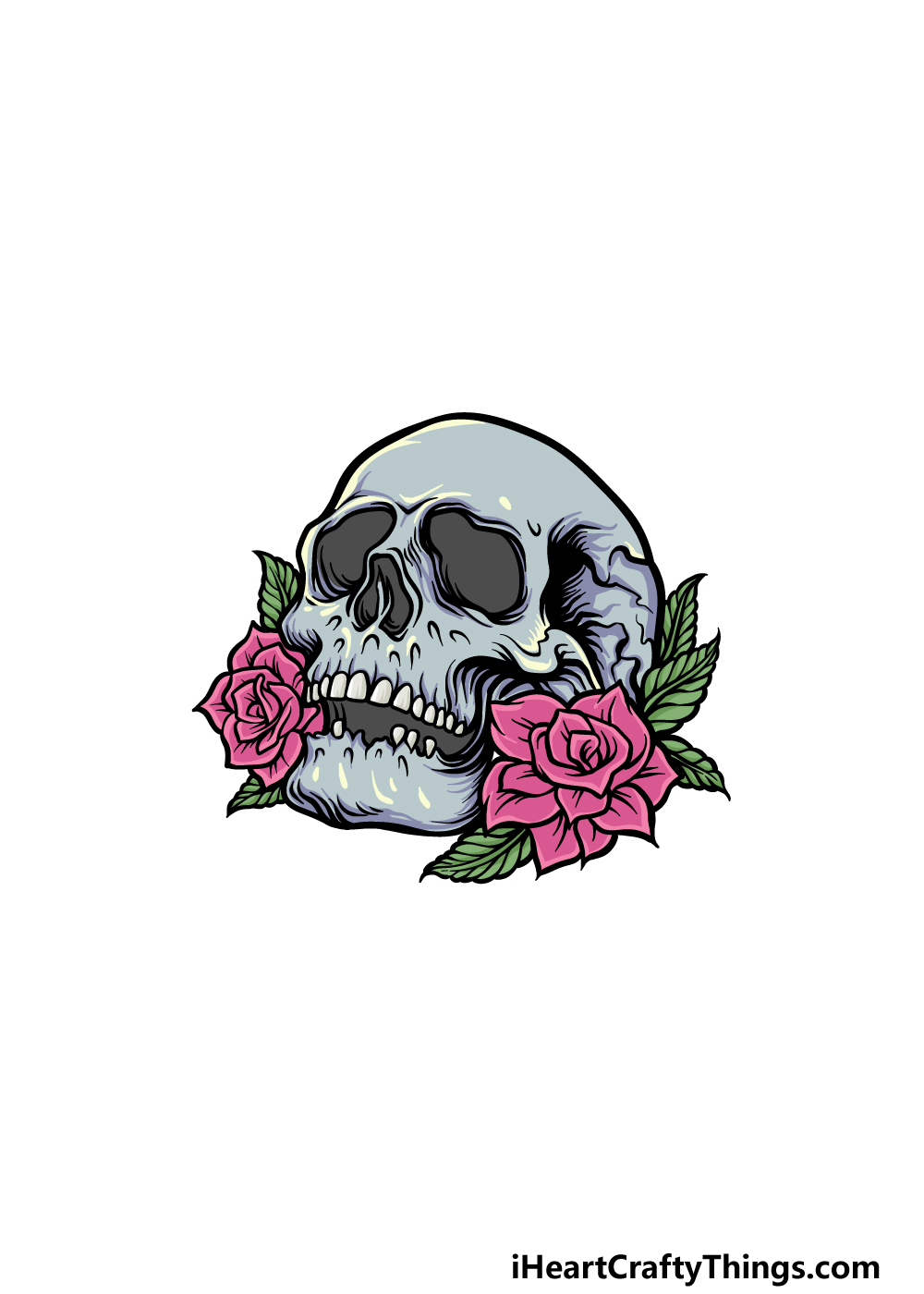 drawing A Rose Skull step 6
