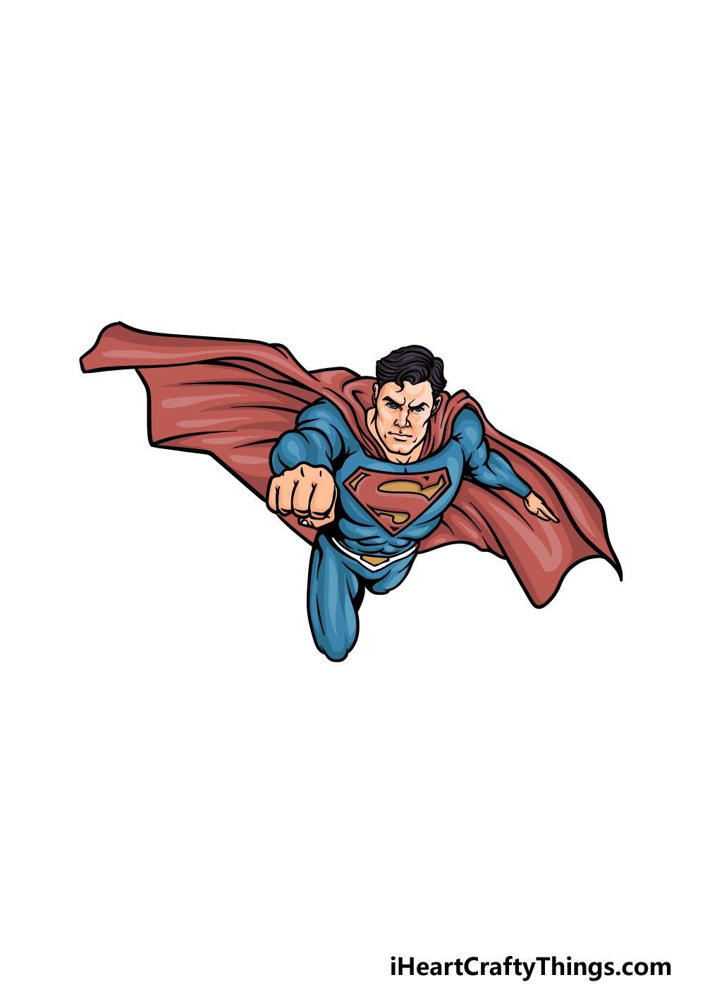 drawing Superman step 6