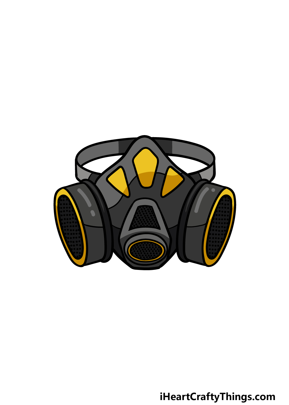 drawing Gas Mask step 6