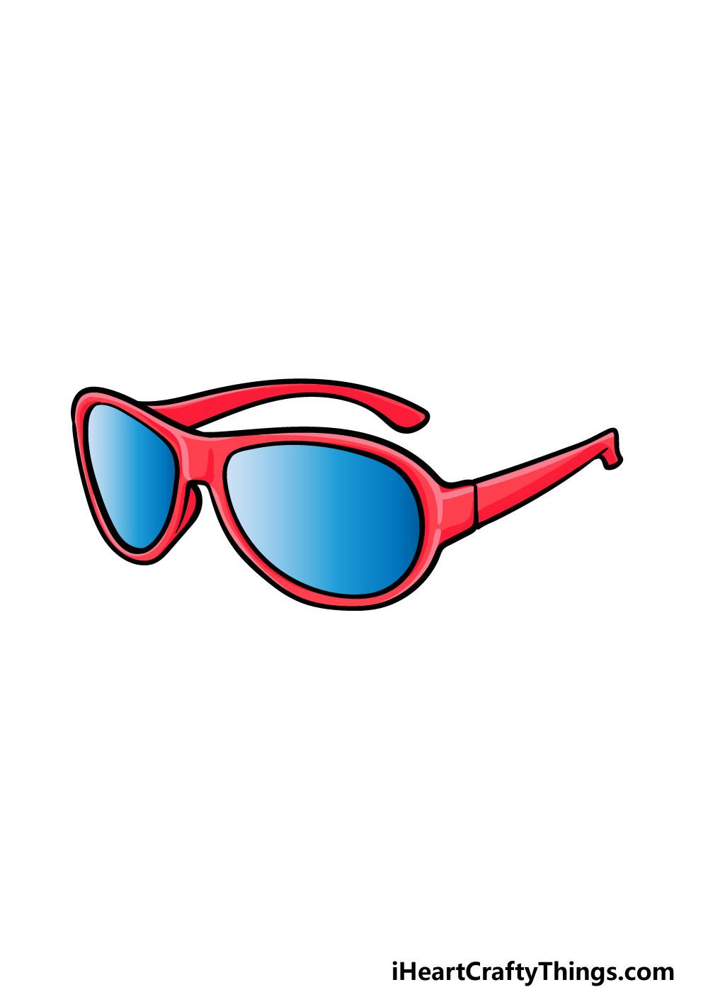 drawing sunglasses step 6