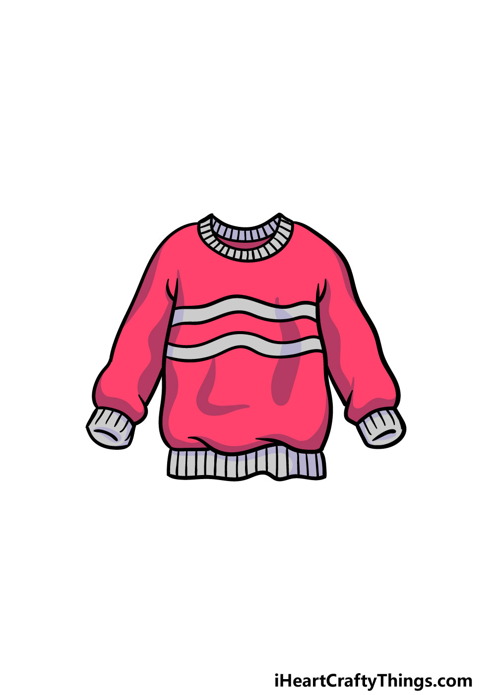 drawing a sweater step 6
