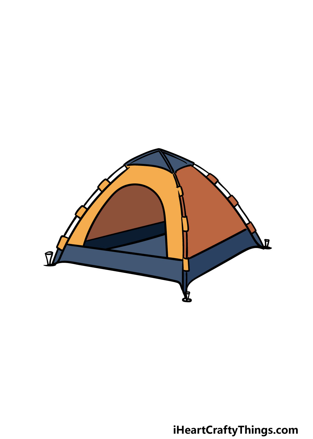 drawing a tent step 6