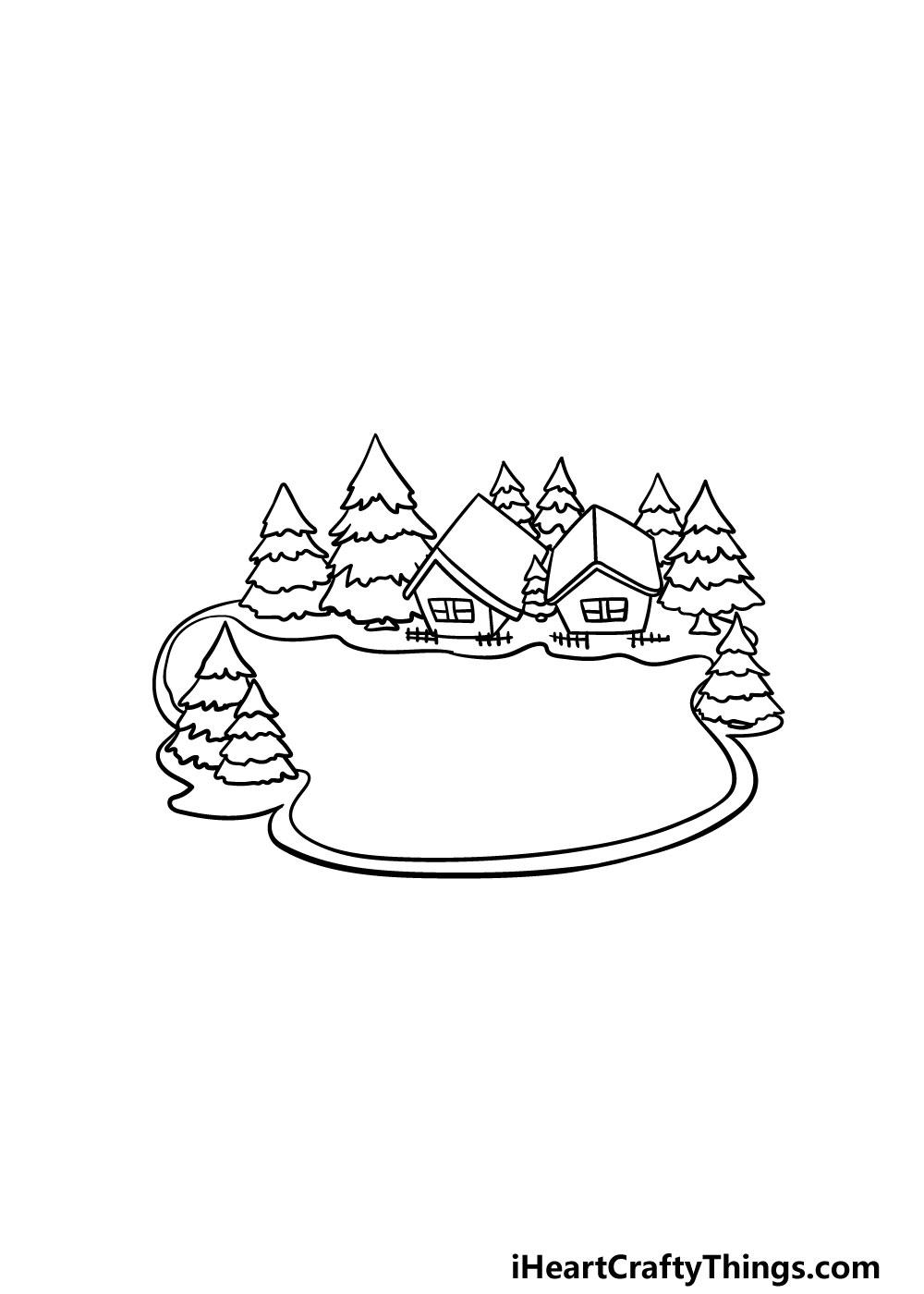 drawing a lake step 6