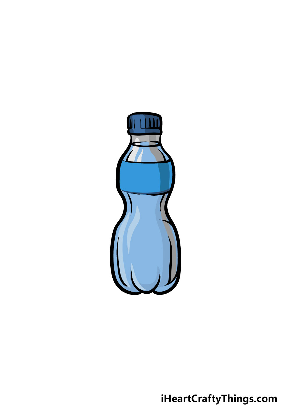 drawing a water bottle step 6