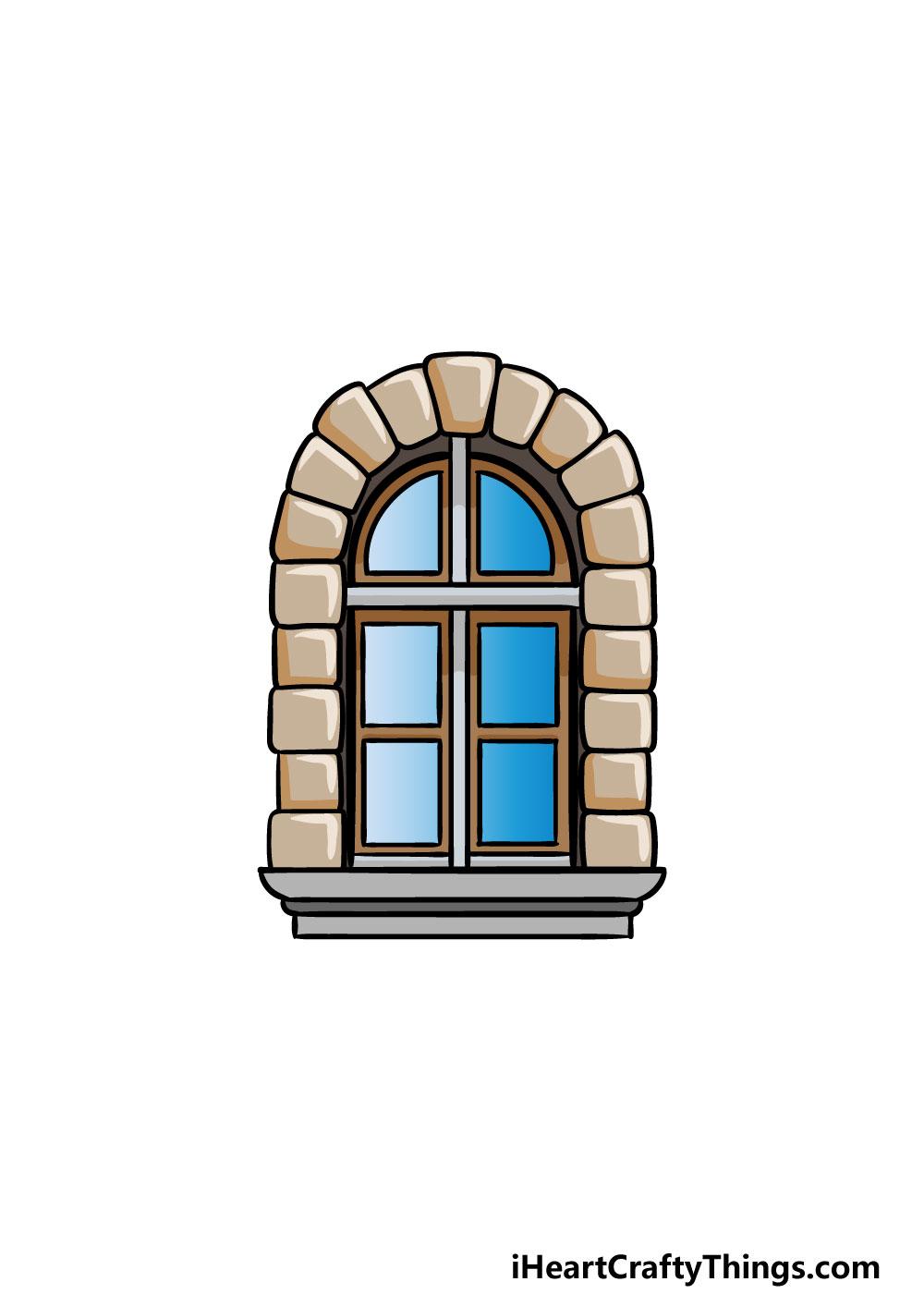 drawing a window step 6