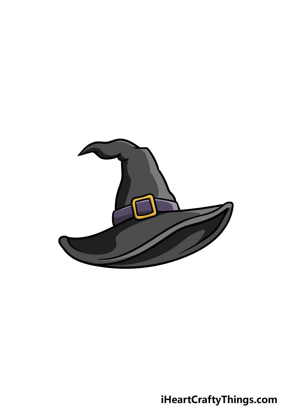 drawing a witch hat step 6