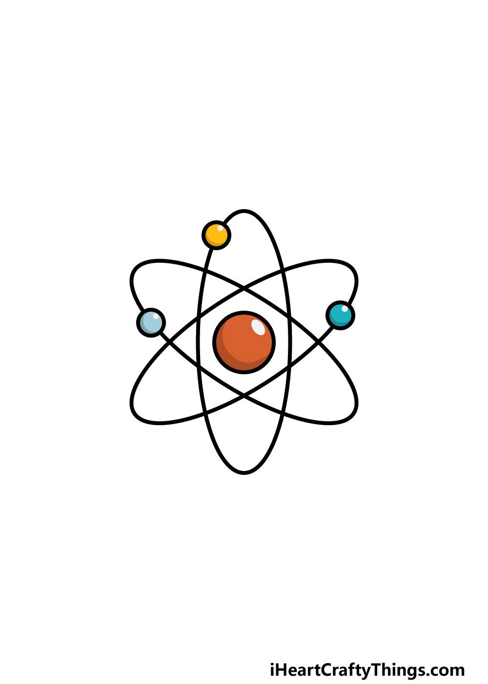 drawing an atom step 6