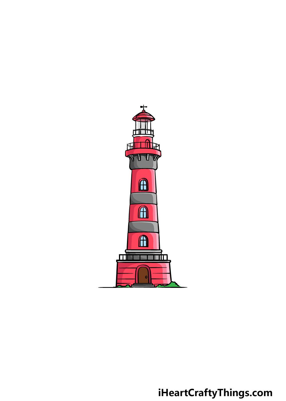 vẽ ngọn hải đăng bước 6