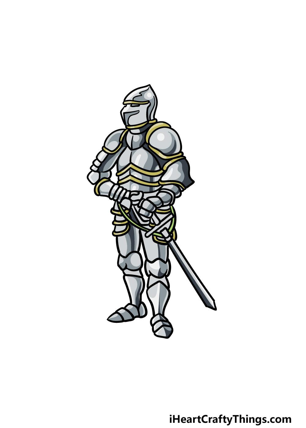 drawing armor step 6