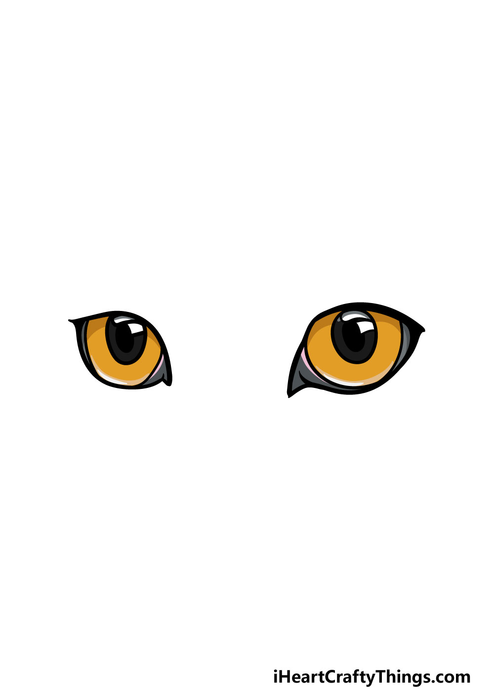 drawing cat's eyes step 6