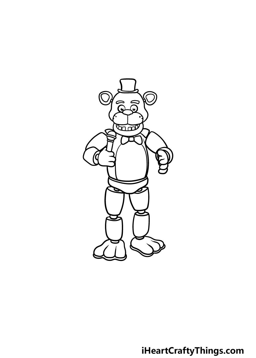 drawing Freddy Fazbear step 6
