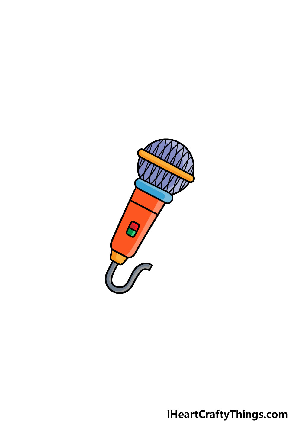 drawing a microphone step 6
