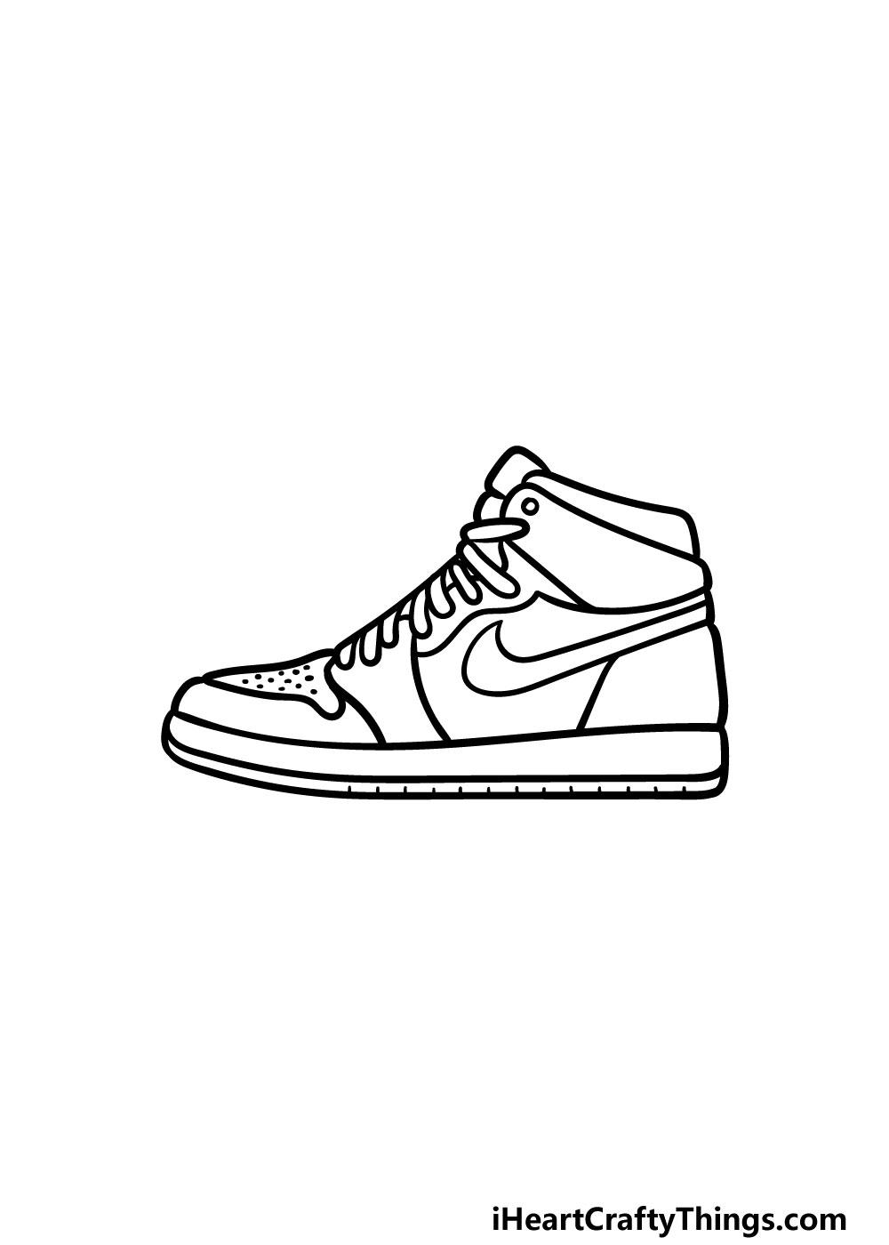 drawing air jordan shoes step 6
