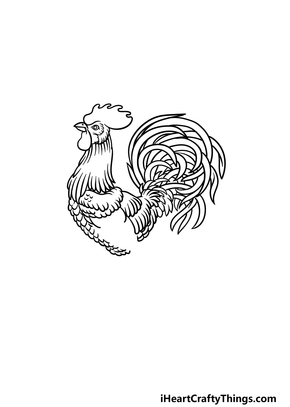 drawing a rooster step 6
