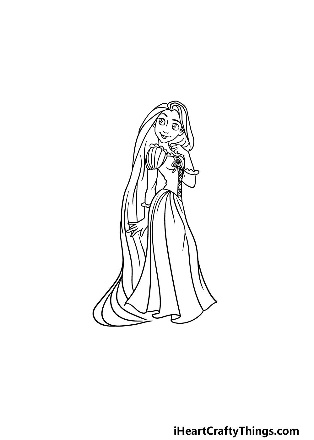 drawing Rapunzel step 6