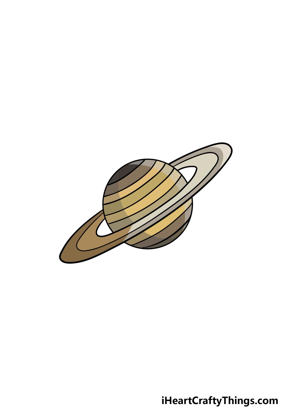 drawing Saturn step 6