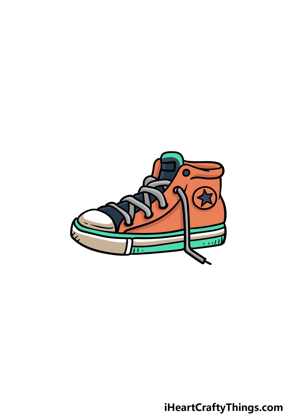 drawing sneakers step 6