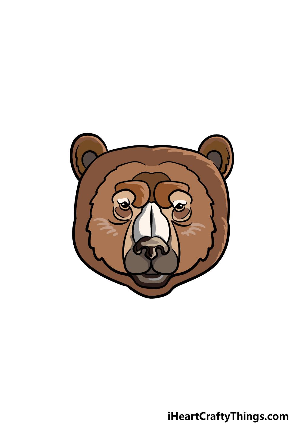 drawing a bear face step 6