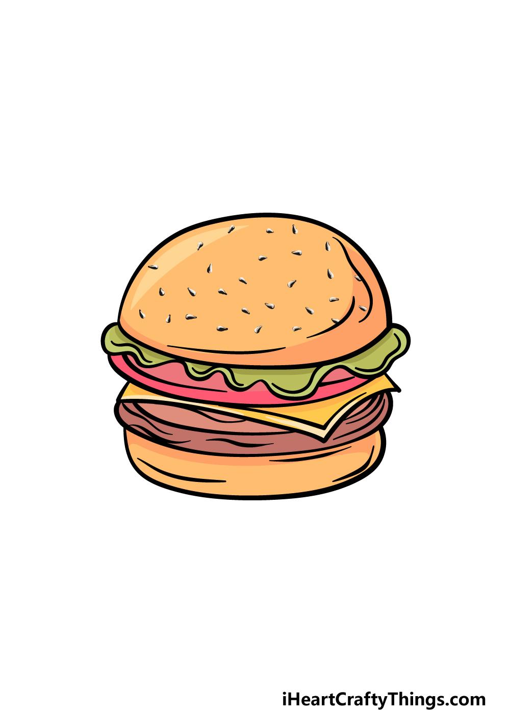 drawing a burger step 6