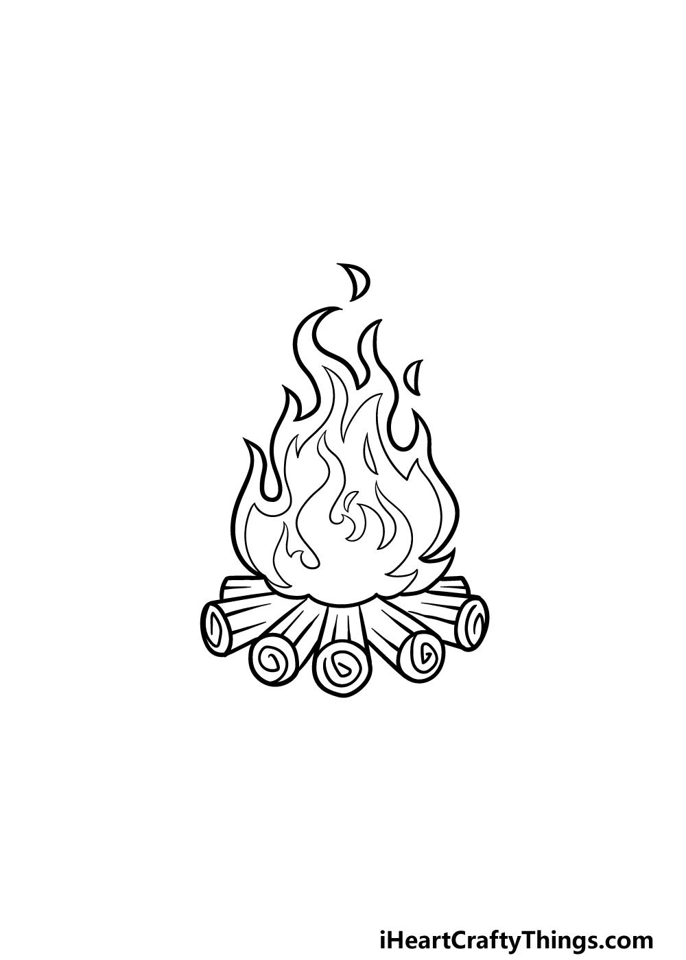drawing campfire step 6