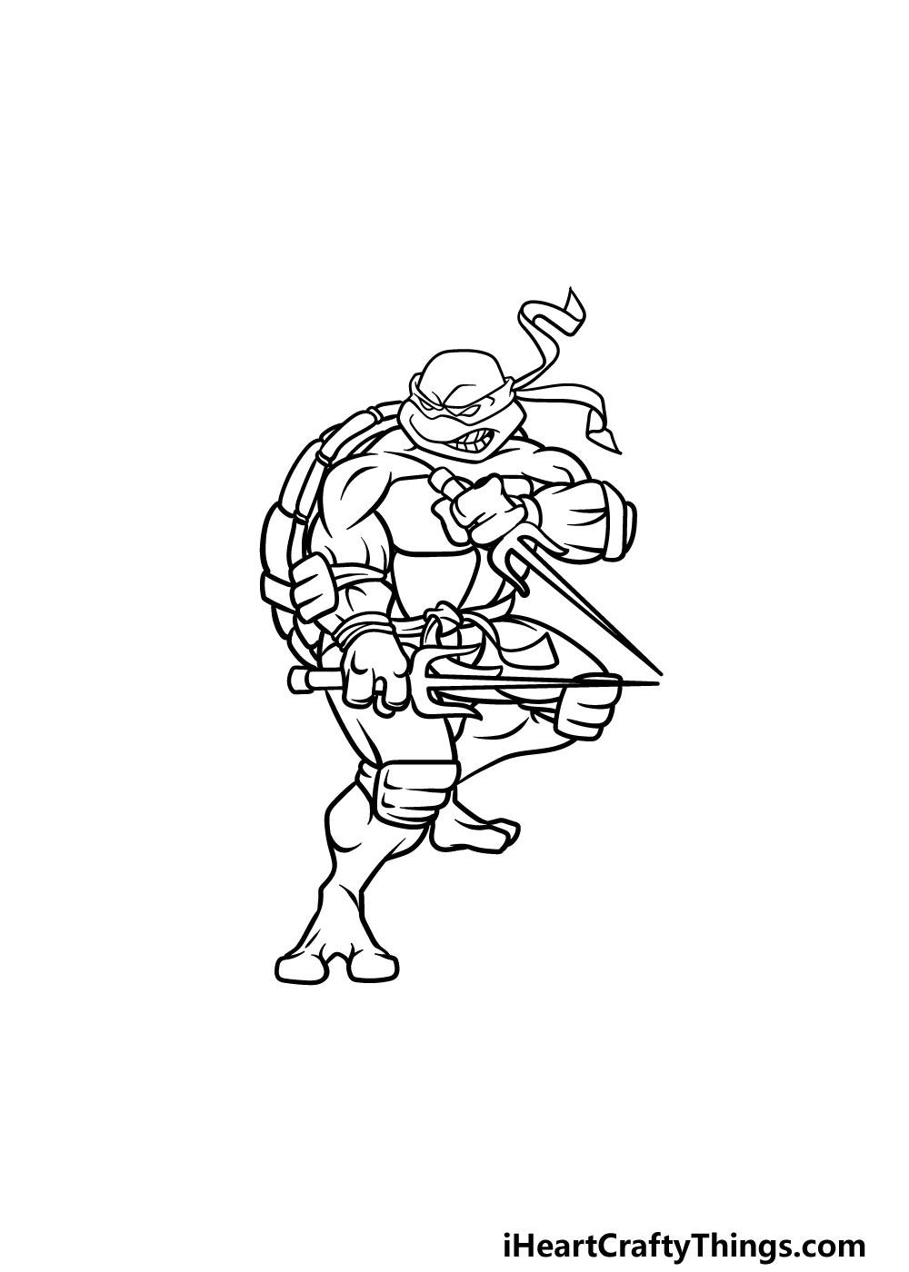 drawing ninja turtles step 6