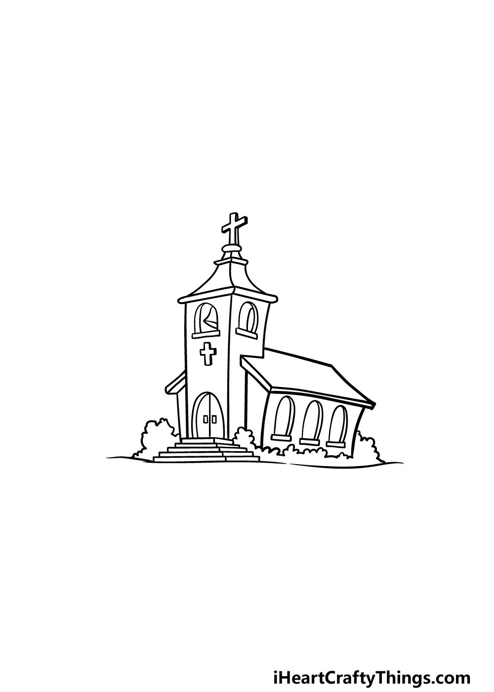 drawing a church step 6