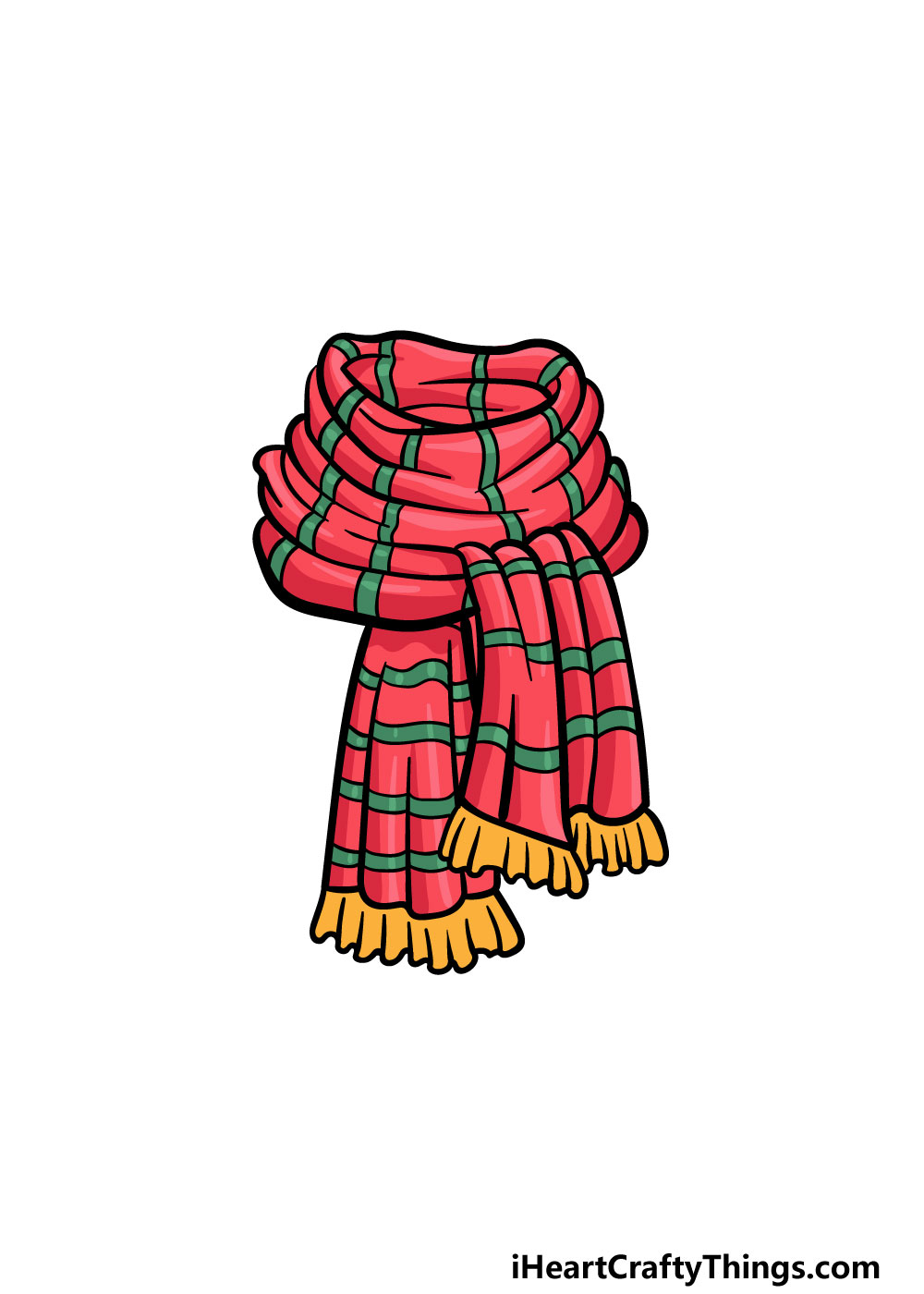 drawing a scarf step 6
