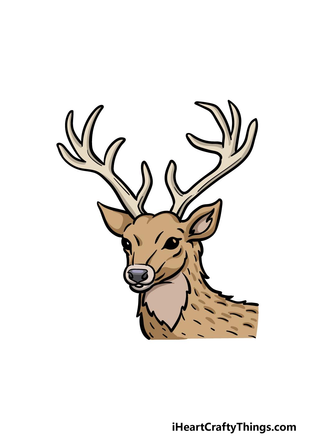 drawing deer's head step 6