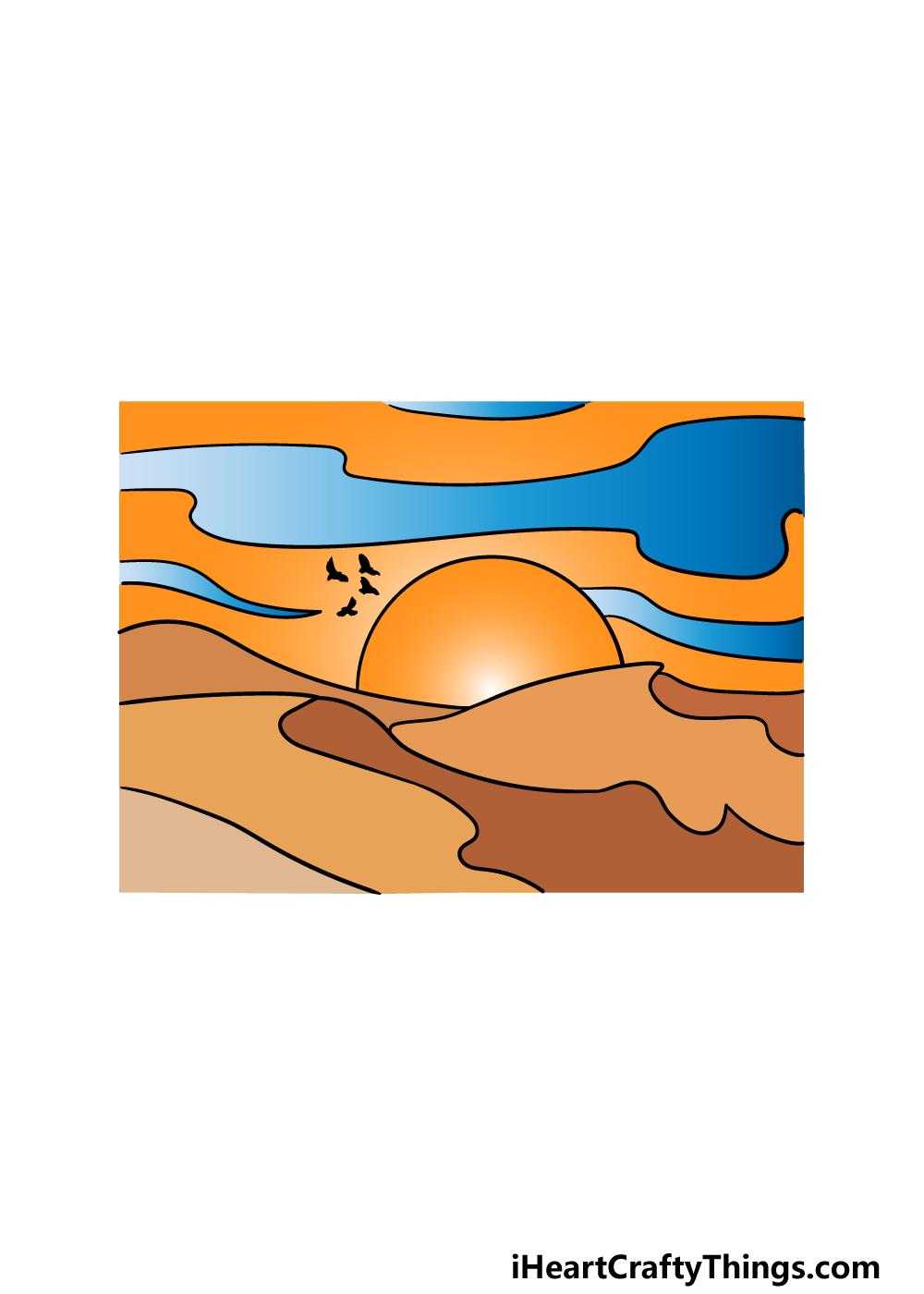 drawing a desert step 6