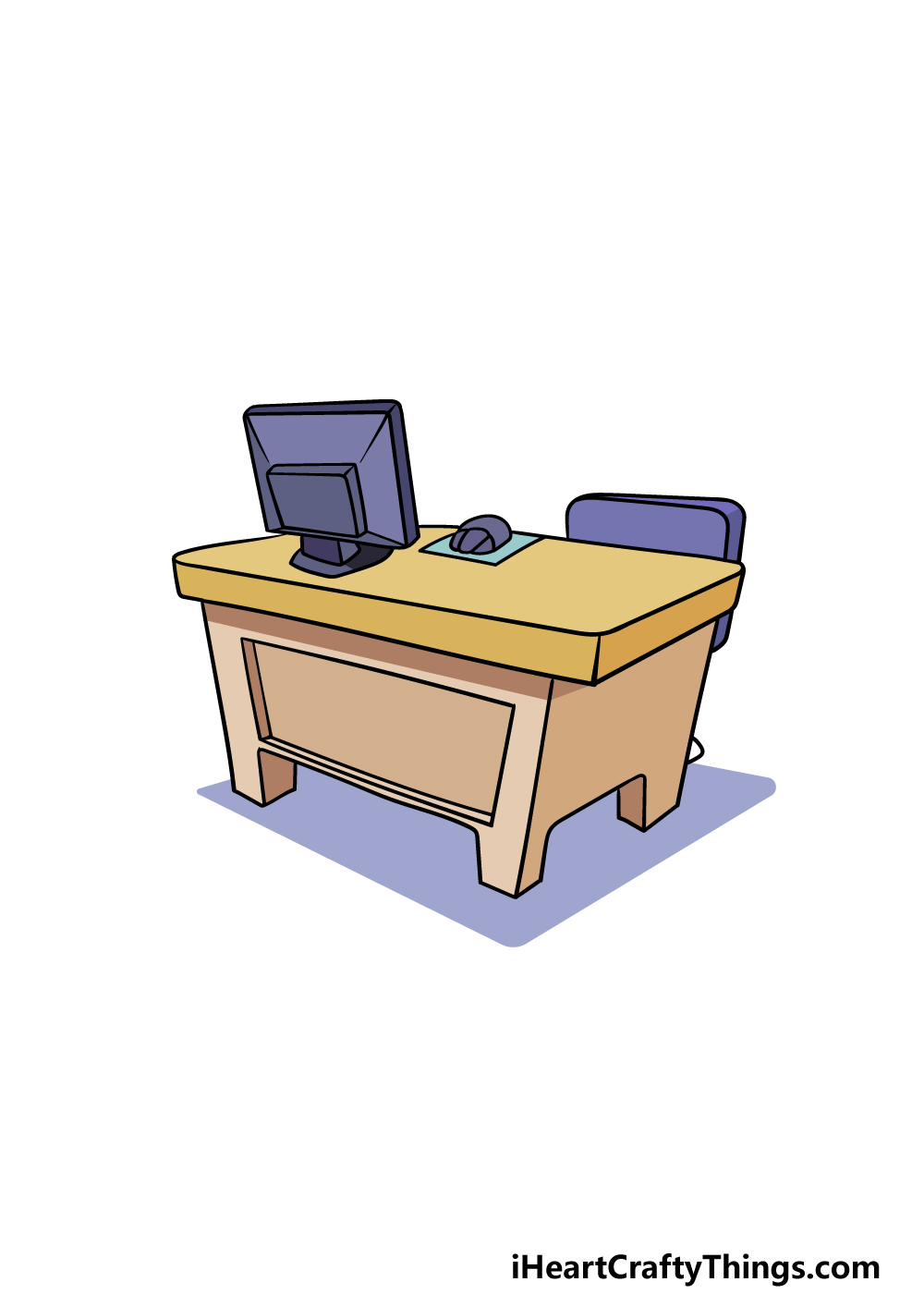 drawing a desk step 6