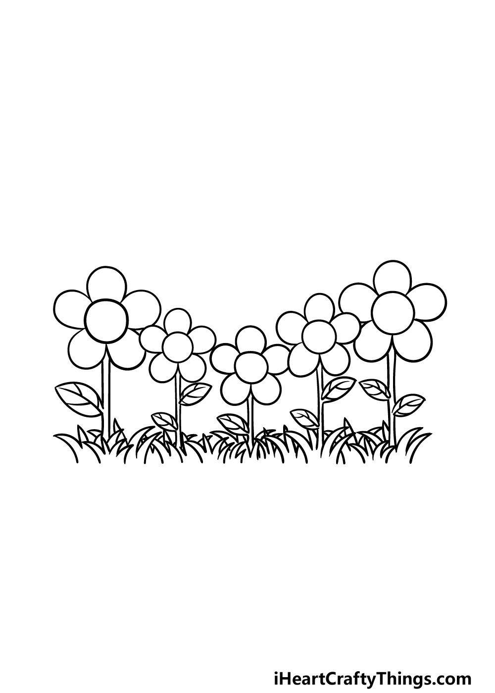 drawing a garden step 6