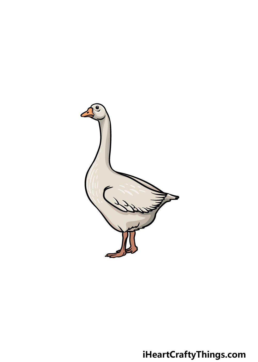 drawing a goose step 6