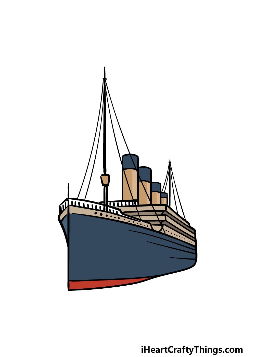 drawing titanic step 6