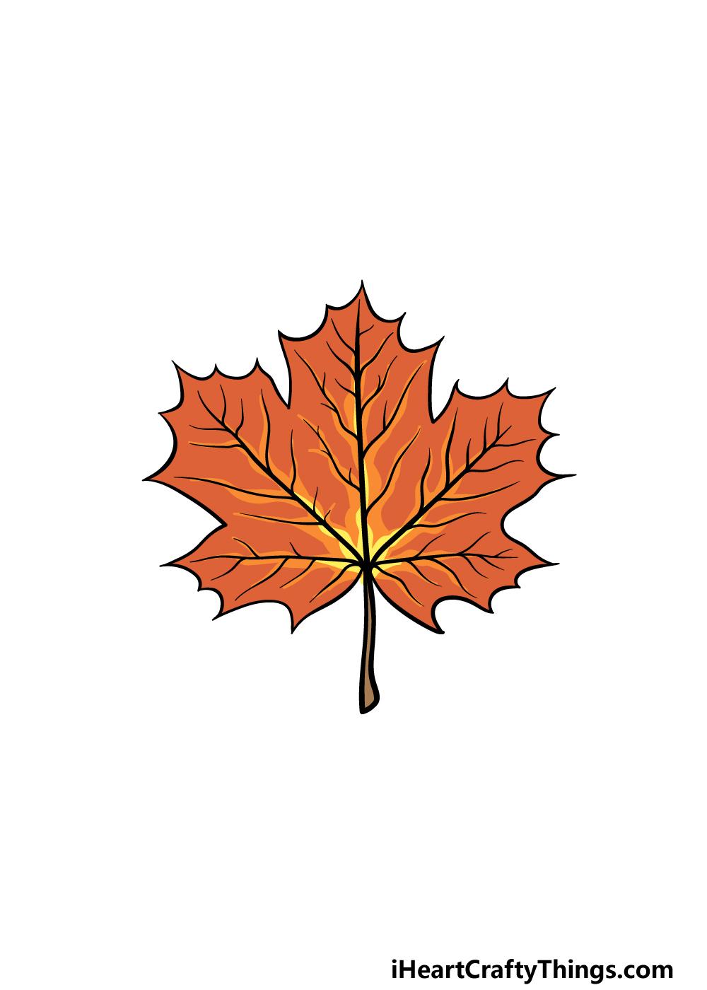 drawing a maple leaf step 6