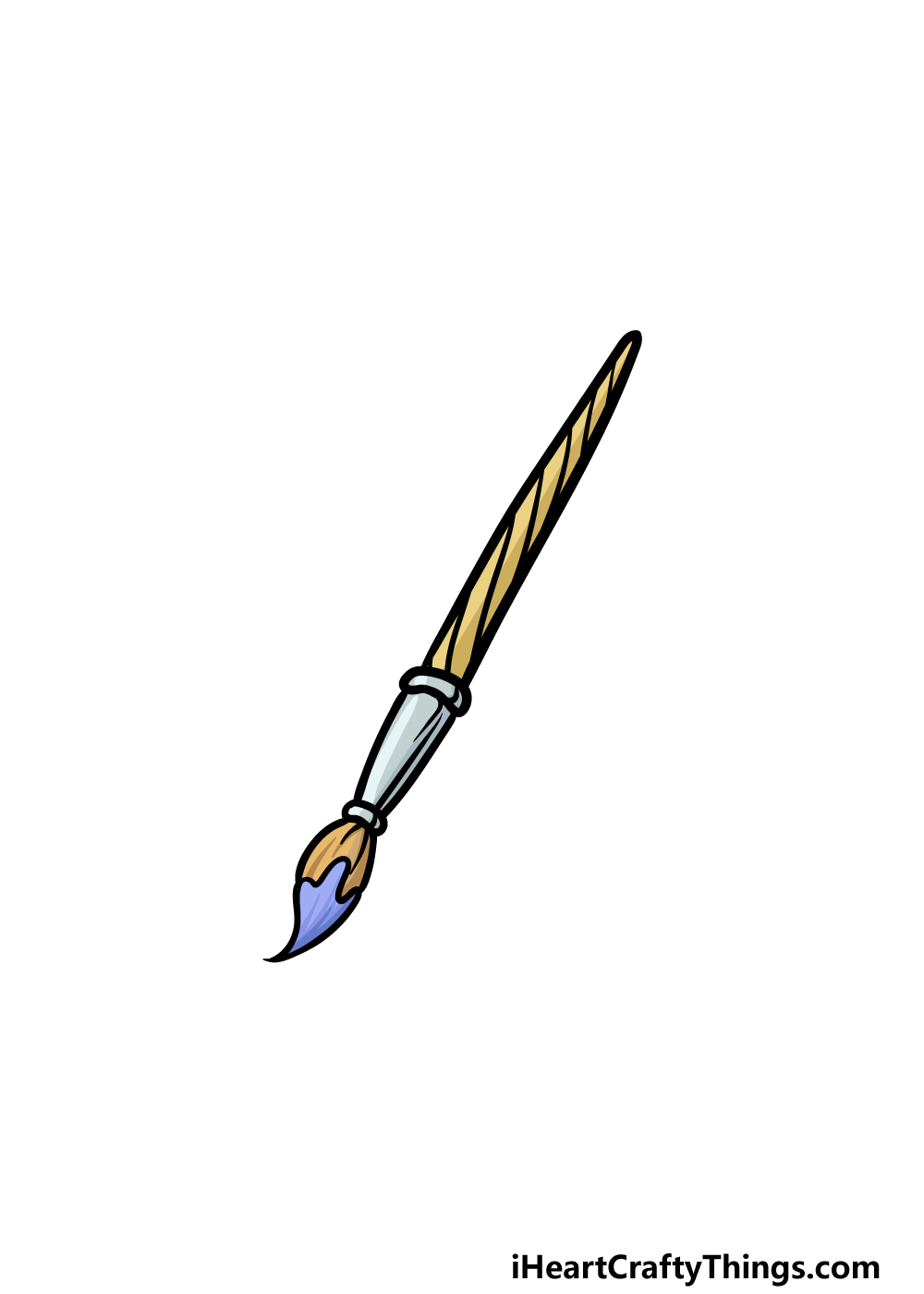 drawing a paintbrush step 6