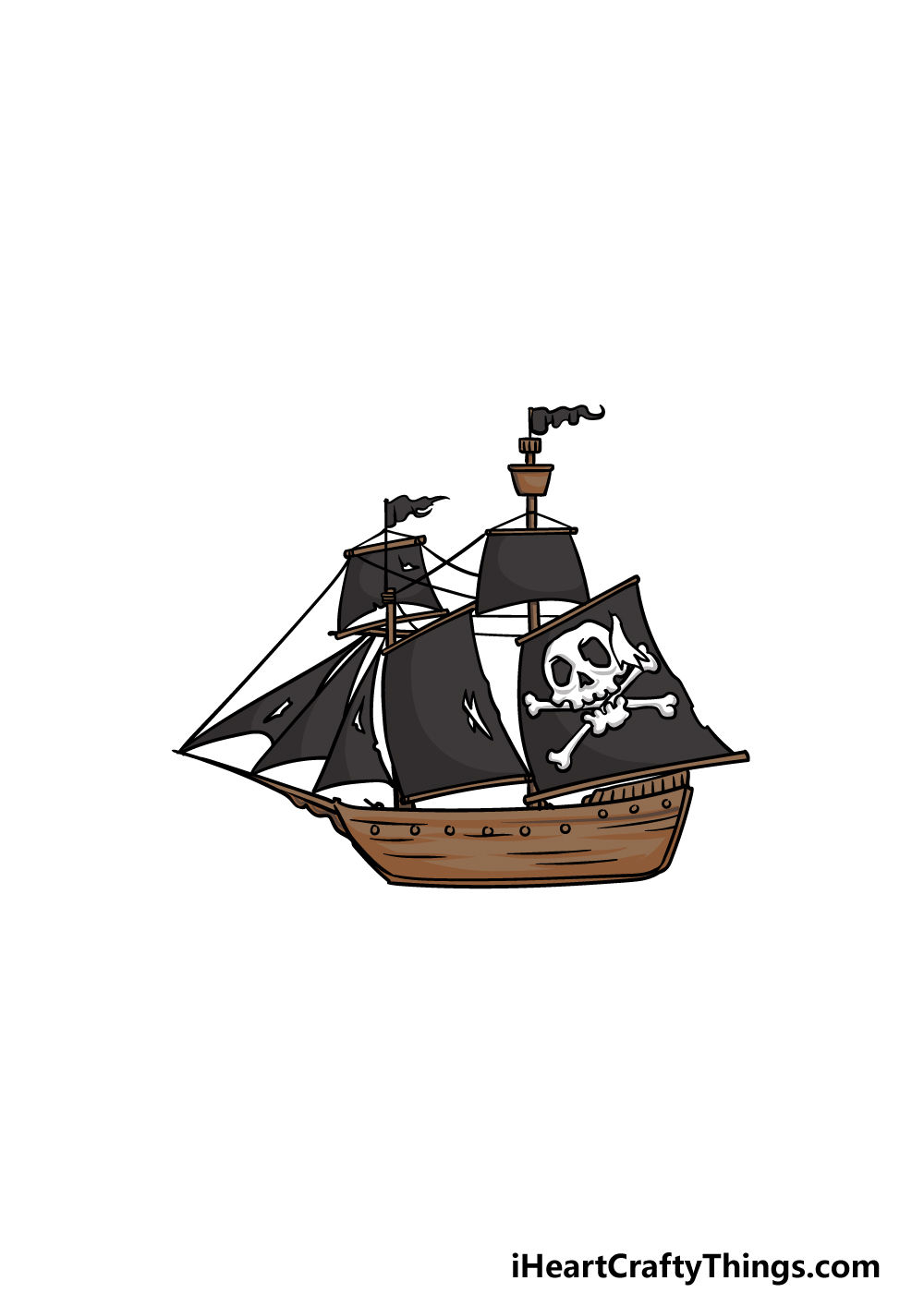 drawing a pirate ship step 6