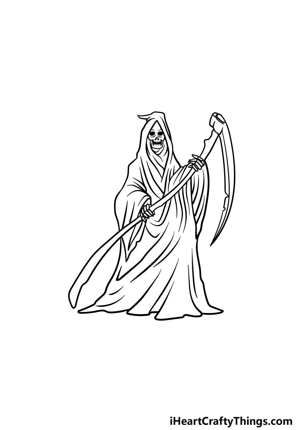 drawing grim reaper step 6